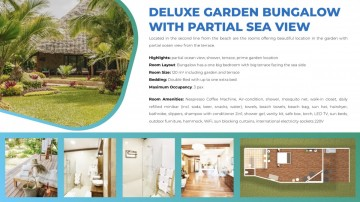 Deluxe Garden Bungalow With Partial Sea View