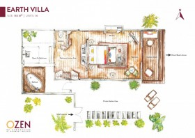 Three Bedroom OZEN Water Suite with Pool (430 m²)