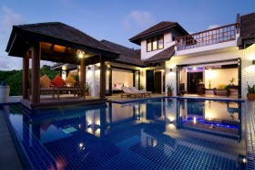 Family 2 Bedroom Villa with Pool (1200 m2, 3 vily)