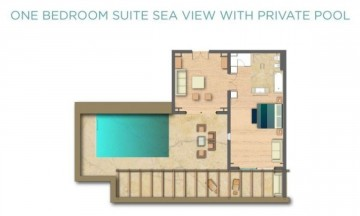 One Bedroom Suite Sea View with Private Pool