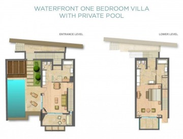 Waterfront One Bedroom Villa with Private Pool