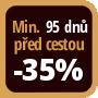Při objednání minimálně 95 dnů před zahájením pobytu získáte slevu 35% z celé ceny ubytování.