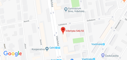 Google Map of Vídeňská 55